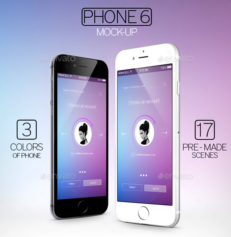best premium iphone 6 mockup psd