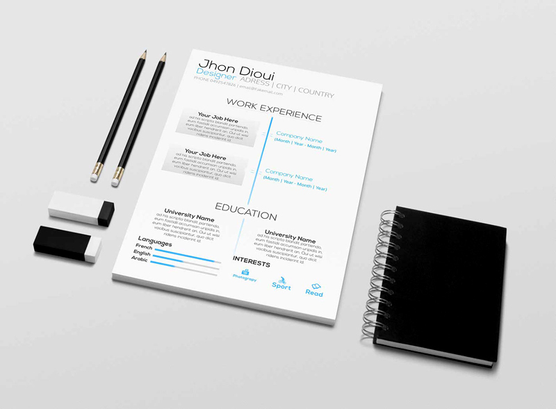 free download cool resume templates in psd