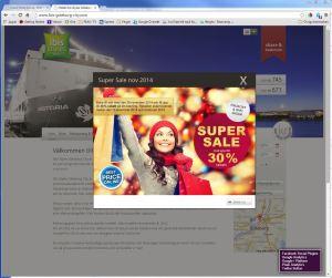 Startsidan för Mercure Hotels hemsida med SuperSale-kampanj.