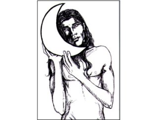 """""""Måne"""" tecknad av mig"""