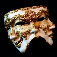 máscara de felicidad y de tristeza