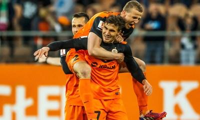Zaglebie Lubin Celebrate Goal 3