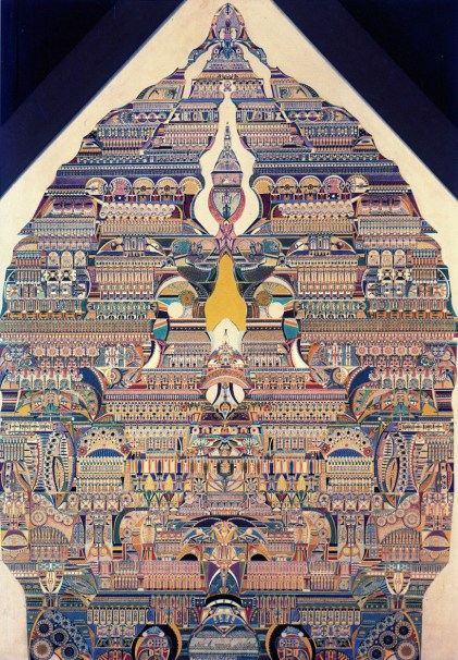 """Symbolic Composition of the Spiritual World, 1925. This painting inspired Max Hettler's film """"1925 aka Hell."""""""