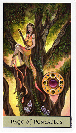 Crystal Visions - Page of Pentacles