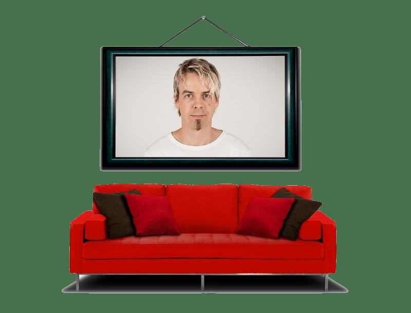Ramme med sofa og portrett2