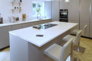 Silestone by Cosentino Miami white worktops and BORA Basic hob