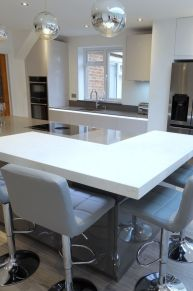 Another stunning #kitchen completed in High gloss taupe featuring the #Neff slide n hide oven