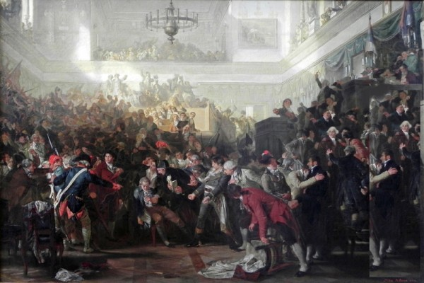 The Overthrow of Robespierre by Max Adamo, Painting