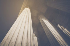 39728652 - pillars in retro instagram style