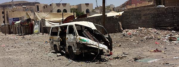 Sanaa_after_airstrike_20-4-2015_-_Widespread_destruction-_15_banner_dark