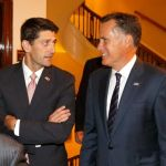 """Former Massachusetts Gov. Mitt Romney, , right and his former vice presidential running mate U.S. Rep. Paul Ryan, R-Wis., arrive for a dinner at the Union Club where Romney will interview Ryan's about Ryan's new book, """"The Way Forward: Renewing the American Idea."""" Thursday, Aug. 21, 2014, in Chicago. Ryan is on tour to promote the book as he weighs a presidential campaign of his own. Photo: Charles Rex Arbogast, AP"""