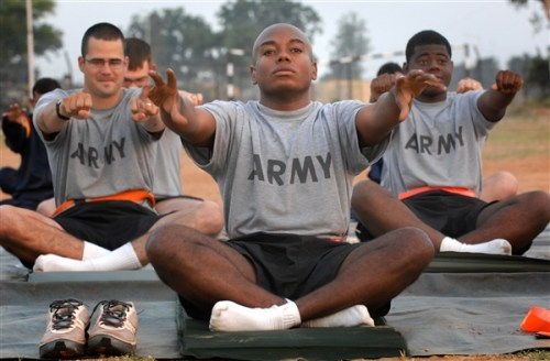 Yoga for Soldiers. Photo courtesy of defense.gov.
