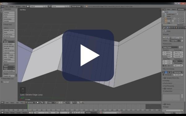 Videotutorial sobre edicion de geometria en Blender