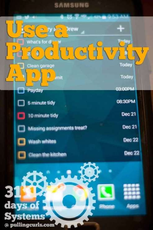 Using a productivity app will help increase what you get done, and what you have to hold in your brain. Use a to do list to get more DONE.