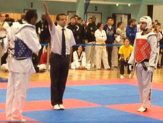 Adam (left) competing at last year's event