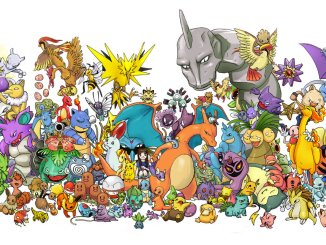 A selection of Pokémon from the first generation