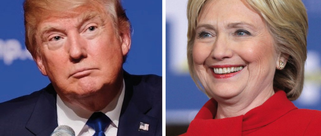 US Presidential Candidates Donald Trump (left) and Hillary Clinton (right)