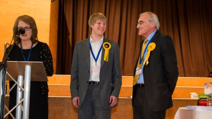 Councillor Neil Darby with Honorary Alderman Bill Shannon. Image: Preston Liberal Democrats
