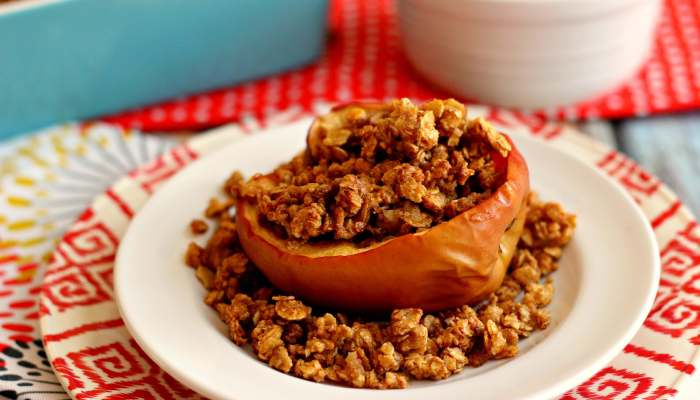 These Baked Apples with Granola make the perfect breakfast, mid-morning snack, or healthy dessert.