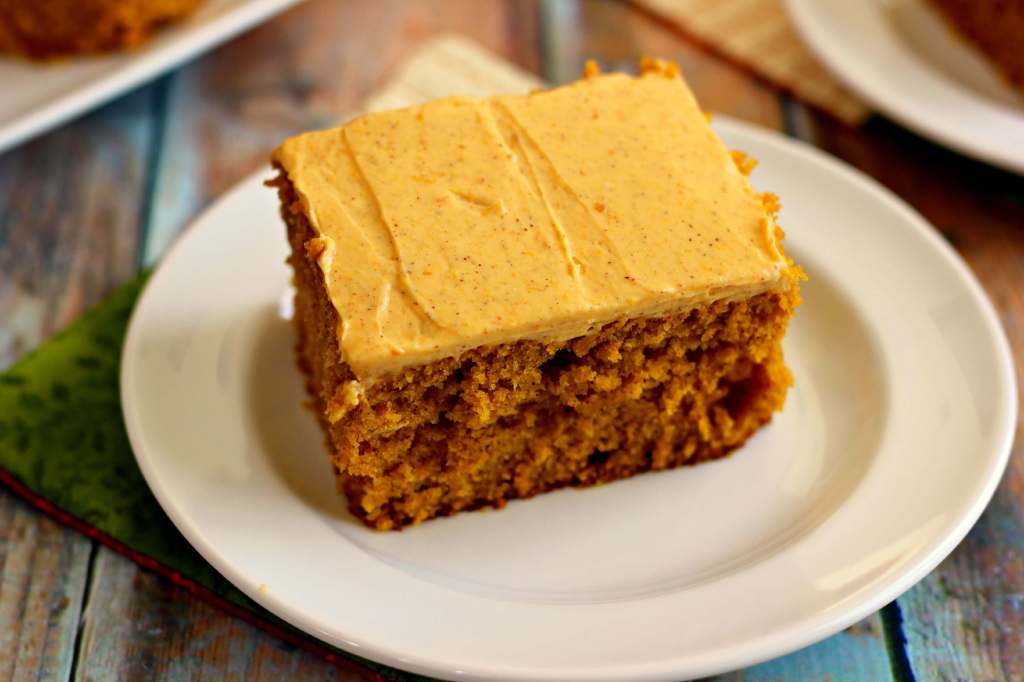 Pumpkin Spice Cake with Pumpkin Cream Cheese Frosting - Pumpkin 'N ...
