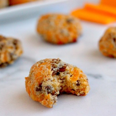These Cheddar Sausage Balls are savory, full of flavor, and easy to serve to a hungry crowd!