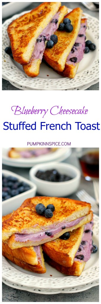 Blueberry Cheesecake Stuffed French Toast is filled with a sweet cream ...
