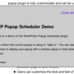 Muestra mensajes de alerta a tus visitantes con WordPress Popup Scheduler