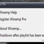 Apaga la PC cuando termine la lista de Winamp