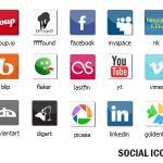 Nuevo paquete de iconos sociales