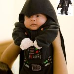 Disfraz para Halloween: Baby Darth Vader
