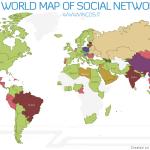 Las redes sociales a lo largo del mundo