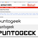 Abstract Fonts, 13.000 fuentes gratuitas