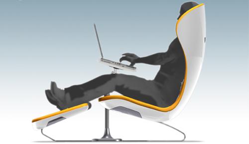 Silla ergon mica con soporte para laptop for Sillas comodas para pc