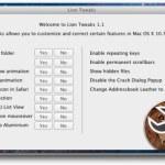 Activa o desactiva las nuevas funciones de Mac OS X Lion con Lion Tweaks