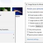 Redimensionar imágenes desde el menú contextual de Windows