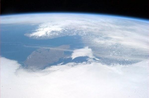 Escandinavia vista desde el espacio