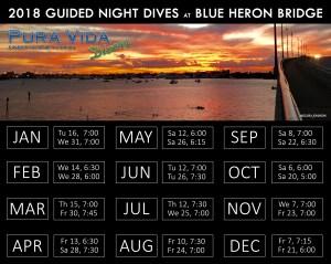 2018 Night Dive Schedule