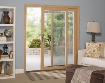 sliding glass door oak 2