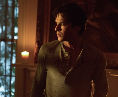 """The Vampire Diaries -- """"Things We Lost in the Fire"""" -- Image Number: VD711a_0006.jpg -- Pictured: Ian Somerhalder as Damon -- Photo: Eli Joshua Adé/The CW -- © 2016 The CW Network, LLC. All rights reserved."""