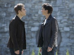 "The Vampire Diaries -- ""Gods & Monsters "" -- Image Number: VD722B_0113.jpg -- Pictured (L-R): Paul Wesley as Stefan and Ian Somerhalder as Damon -- Photo: Bob Mahoney/The CW -- © 2016 The CW Network, LLC. All rights reserved."