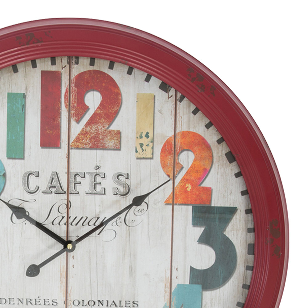 Fullsize Of Large Red Wall Clocks