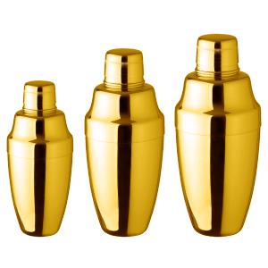 Gold Cocktail Shaker- 3pcs
