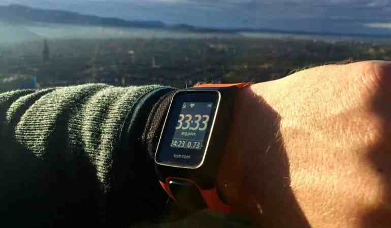 Conquering Arthur's Seat in Scotland with the TomTom Adventurer