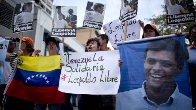 Venezuela solidaridad Leopoldo López