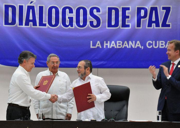 Acuerdo de Paz Colombia. La Habana. Foto Juvenal Balán Granma.cu