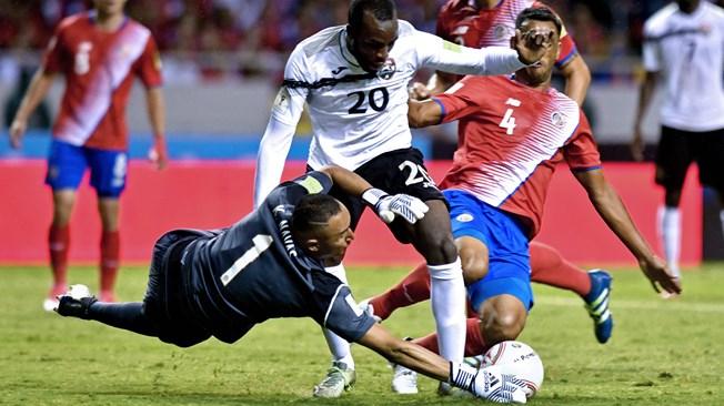Costa Rica venció a Trinidad. Foto AFP. Fuente fifa.com