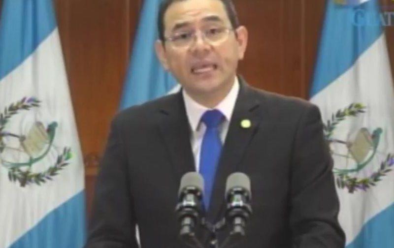 1-Guatemala Presidente Jimmy Morales. Foto prensalibre.com