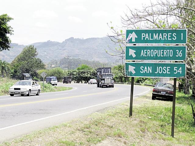 Costa Rica carretera San Ramón. Google Images