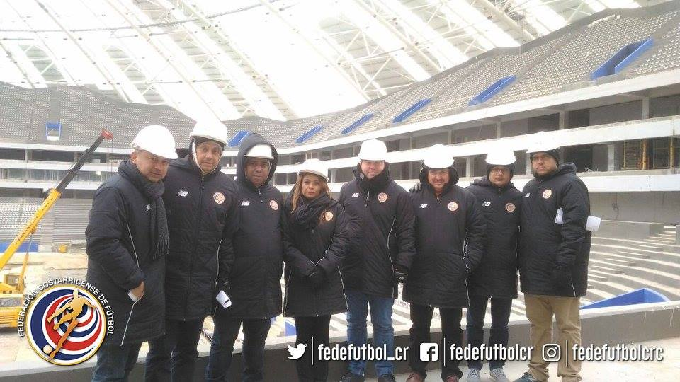 Delegación tica Samara Rusia. Foto fedefutbol.com