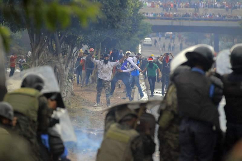Honduras caos elecciones. Foto EFE laprensa.hn